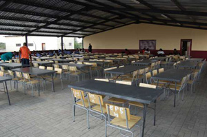 Dining area at Eiseb Primary School Hostel